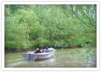 Gezellig een boot huren Biesbosch